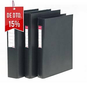 Dossier Esselte - fólio - 4 argolas - lombada 60 mm - preto