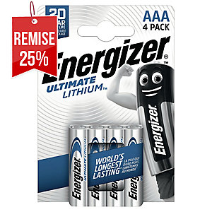 PACK 4 PILES ENERGIZER ULTIMATE LITHIUM L92/AAA