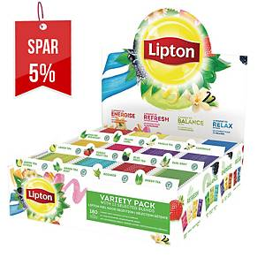 Te Lipton, display med 180 teposer i 12 varianter