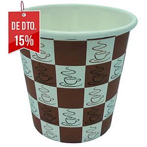 Pack de 80 copos Coffee Quick - cartão - 120ml
