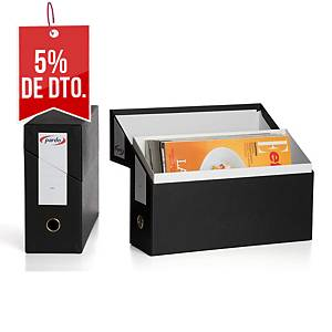 Estuche archivador horizontal Pardo - folio - cartón - negro