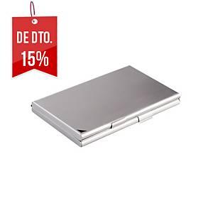 Porta-cartões metálico Durable - 68 x 125 mm - 20 cartões - prateado