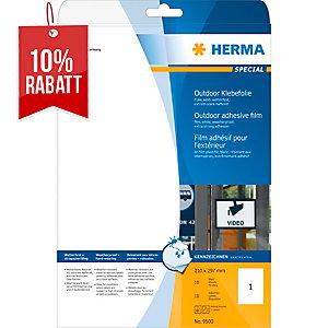 Outdoor-Folienetiketten Herma 9500, 210 x 297mm (LxB), weiß, 10 Stück