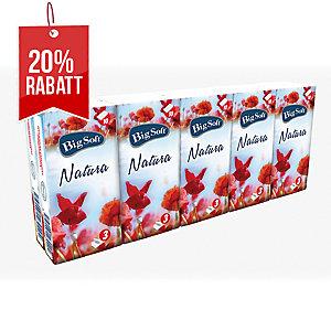 Big Soft Natura 3-lagige Taschentücher, weiß, 10 x 10 Stück