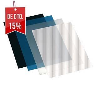 Pack de 100 capas de encadernação - A4 - PP - preto