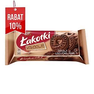 Ciastka SAN ŁAKOTKI kakaowe, 168 g