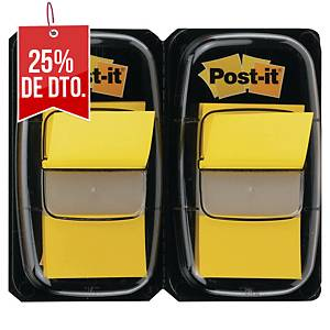 Pack de 2 dispensadores de 50 Post-it Index medianos - amarillo