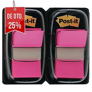 Pack 2 dispensadores de 50 Post-it Index médios - rosa