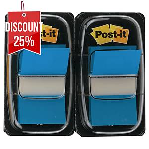 Post-It Index Dual Pack 25 X 44mm Blue - 2 Dispensers of 50