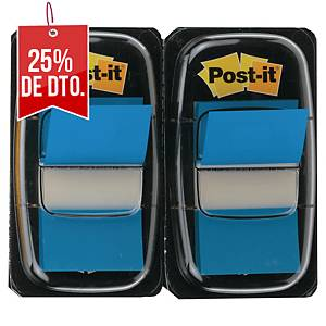 Pack de 2 dispensadores de 50 Post-it Index medianos - azul