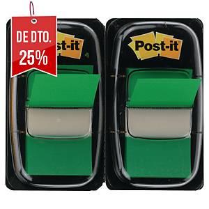 Pack 2 dispensadores de 50 Post-it Index médios - verde