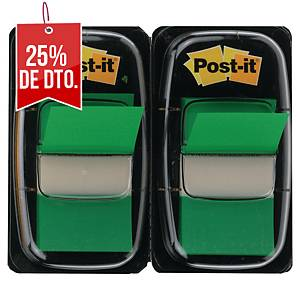 Pack de 2 dispensadores de 50 Post-it Index medianos - verde