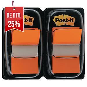 Pack 2 dispensadores Post-it - 50 unidades - laranja - 25 x 44 mm