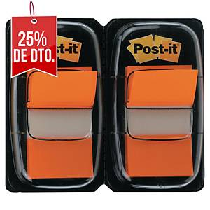 Pack de 2 dispensadores Post-it - 50 unidades - naranja - 25 x 44 mm