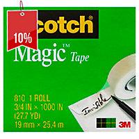 SCOTCH MAGIC TAPE 810 19MM X 25M - PACK 4