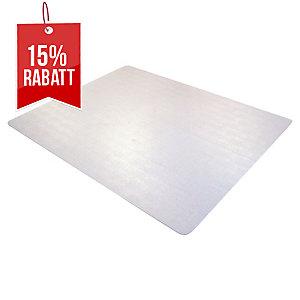 Bodenschutzmatte Cleartex 1115223ER, 150x120cm, für Teppichböden, transparent