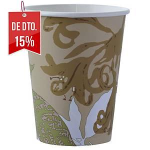 Pack de 50 copos Duni Ecoecho - cartão e PLA - 120ml
