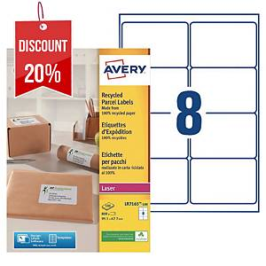 Avery LR7165 laser labels recycled 99,1x67,7mm - box of 800
