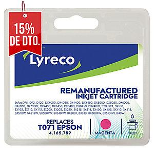 Cartucho de tinta LYRECO magenta compatible con EPSON T071340