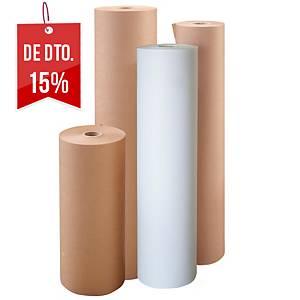 Rolo de papel de embalagem kraft vergé - 1000 mm x 10 m - 70 g/m² - castanho