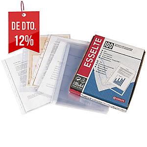 Pack de 100 bolsas multifuração A4 16 furos PP rugoso 80micras ESSELTE