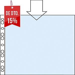 Pack de 100 micas multifuro Esselte - fólio - PP rugoso - 80 μ