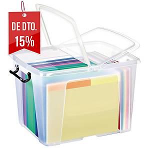 Caixa organizadora Cep Strata - 329 x397 x498 mm - transparente