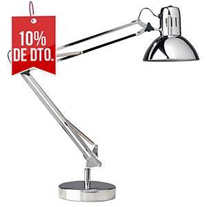 Lámpara Unilux Success - LED - brazo articulado doble - cromo