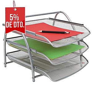 Pack 3 bandejas portadocumentos apilable  ALBA Mesh  Dimensiones: 290x245x340mm