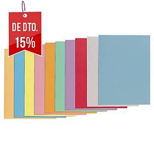 Pack 100 pastas classificadoras Lyreco - A4 - cartolina - sortido