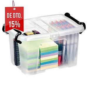 Caixa organizadora Cep Strata -182 x 224 x 305 mm - transparente