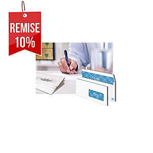 Enveloppe Lyreco Premium 162 x 229 - 90 g - siliconée fenêtre 45 x 100 - par 500