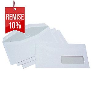 Enveloppe mécanisable 115 x 225 - 80 g - fenêtre 35 x 100 - par 1000