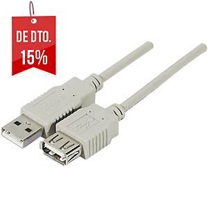 Cabo de extensão USB 2.0 - macho/fêmea - tipo A - 2m