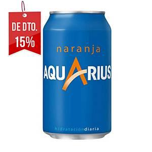 Pack de 24 latas de Aquarius laranja - 33 cl
