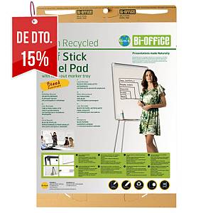 Pack 2 blocos de 30 folhas adesivas Bi-Office Earth-it - 775 x 635 mm