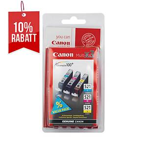 Tintenpatrone Canon CLI-521, 440 Seiten, Multipack, Packung à 3 Stück