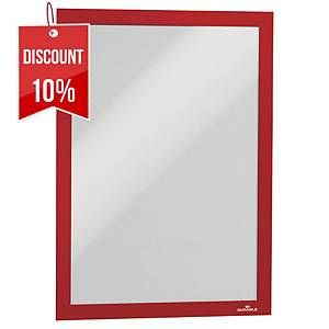 Durable Duraframe flexible frame with magnetic front - red - A4 - pack of 2