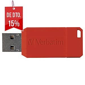 Memória USB Verbatim Pinstripe - USB 2.0 - 16GB - vermelho