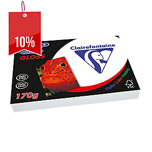 CLAIREFONTAINE DCP LASER GLOSS COATED PAPER 170GSM A4 - REAM OF 250