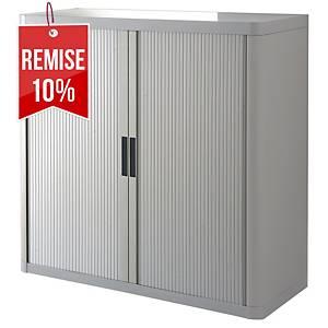 Armoire à rideaux Paperflow Easy Office - 104 x 110 cm - grise