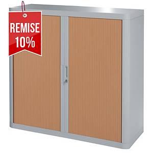 Armoire à rideaux Paperflow Easy Office - 104 x 110 cm - gris/hêtre