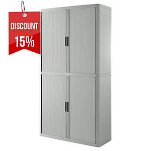 Paperflow Easyoffice Tambour Cupboard 2M Grey