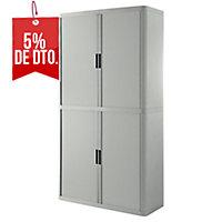 Armario alto de polipropileno con 4 estantes PAPERFLOW EasyOffice color gris