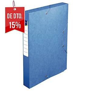 Pasta de projetos Lyreco - lombada 40mm - A4 - cartolina - azul