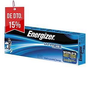 Pack de 10 pilhas Energizer Ultimate Lithium AA/LR06