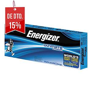 Pack de 10 pilhas Energizer Ultimate Lithium AAA/LR03