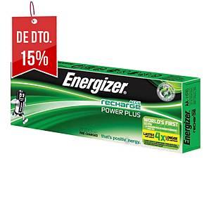 Pack de 10 pilhas recarregáveis Energizer Power Plus AA/HR6 - 2000 mAh
