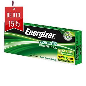Pack de 10 pilhas recarregáveis Energizer Power Plus AAA/HR3 - 700 mAh