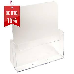 Expositor de secretária Exacompta - A4 - 1 compartimento - transparente